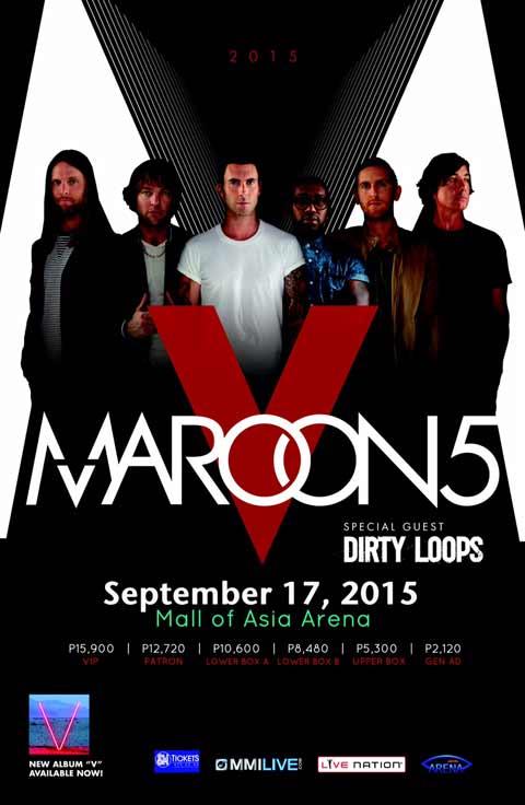 MAROON 5 V TOUR Manila 2015