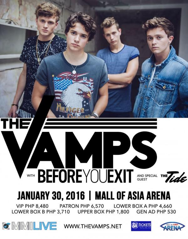 The Vamps Live in Manila 2016