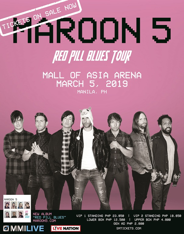 This is a digital admat produced by the office of Hesh One in San Diego, California for Maroon 5 in 2018.