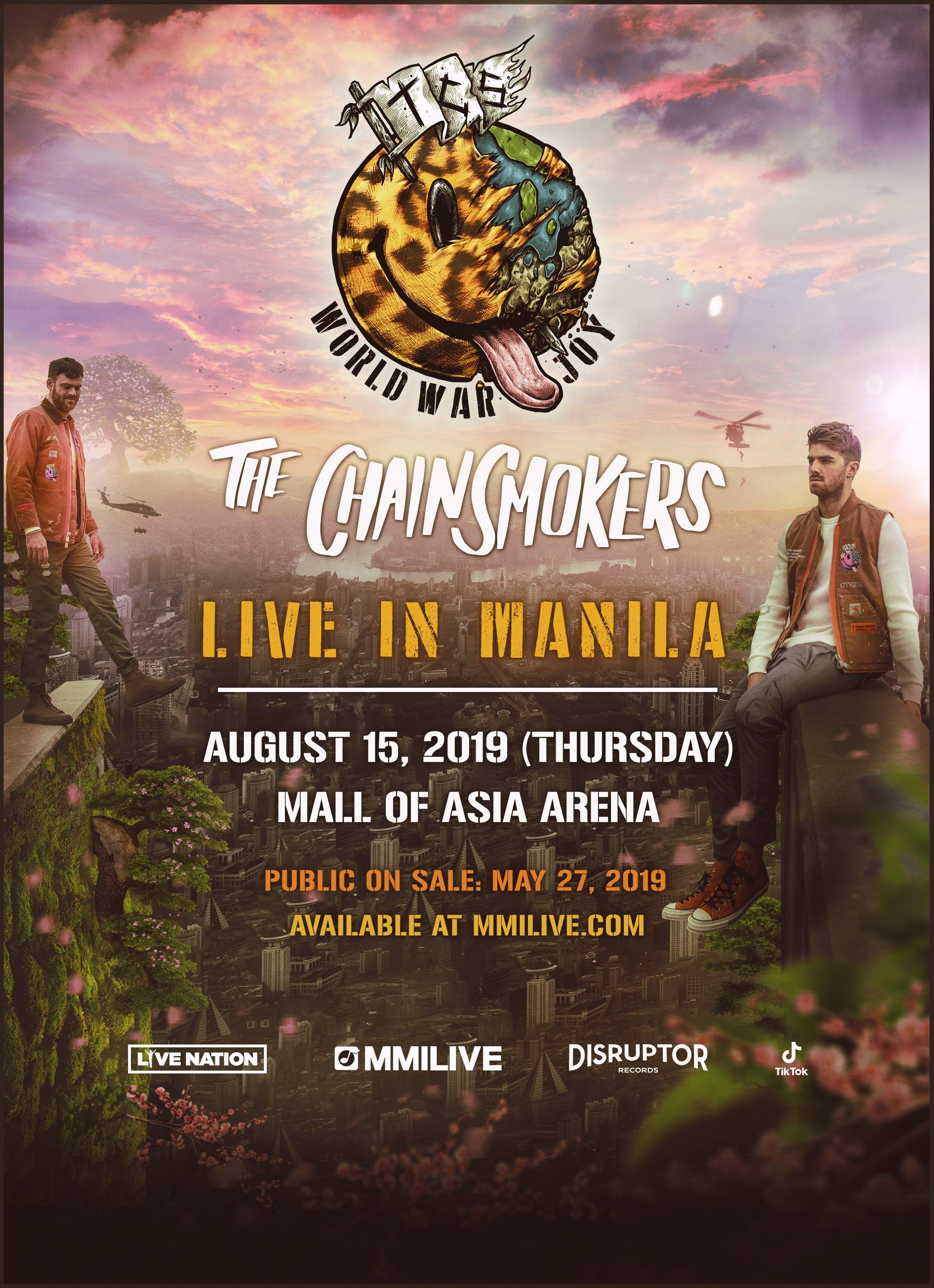 The Chainsmokers World War Joy Tour Live in Manila 2019